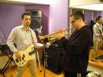 jake and tats in studio